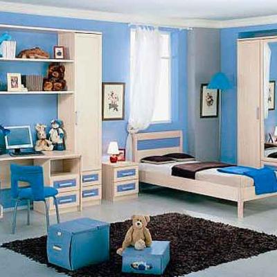 Синий цвет комнаты мальчика