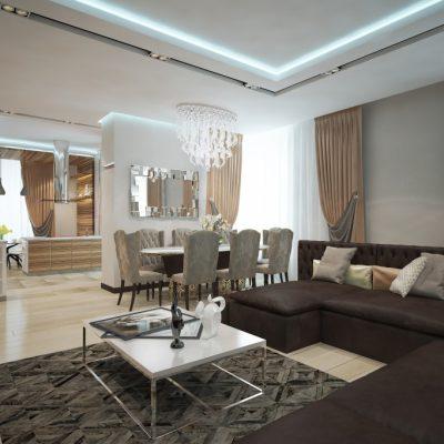 Совмещение помещения в гостиной