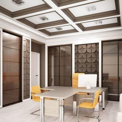 Потолок кабинета в стиле лофт