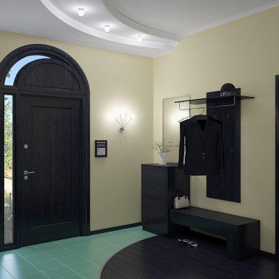 Черная арочная дверь