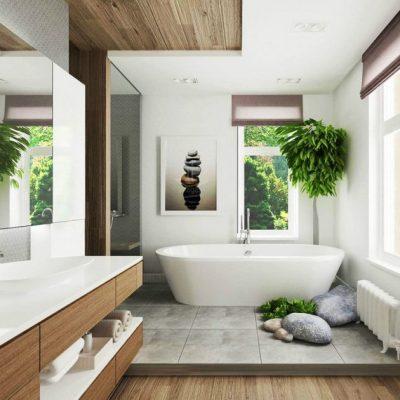 Роль растений в интрьере ванной