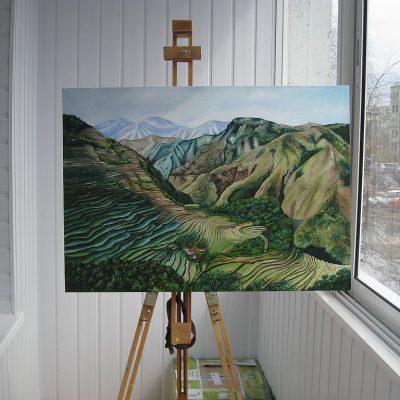 Картина на мольберте