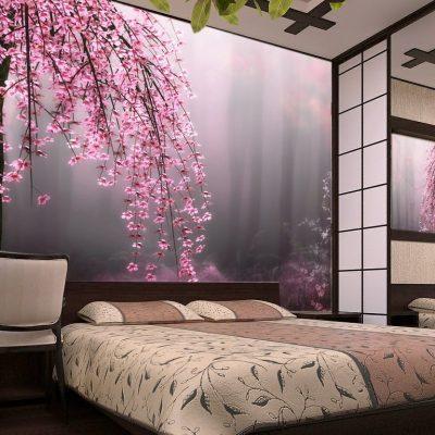 Красивые фотообои в спальне