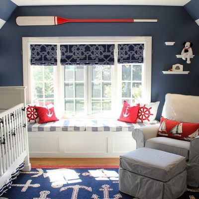 пример оформления детской комнаты в морском стиле