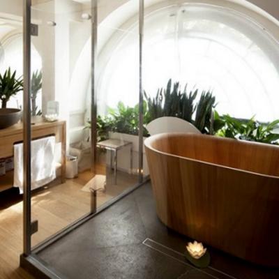 Пример деревянной ванны