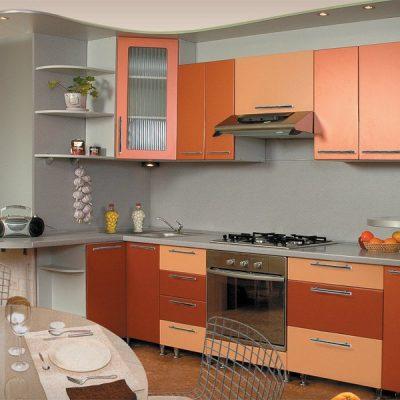 Светлая кухня в стиле модерн на кухне фото