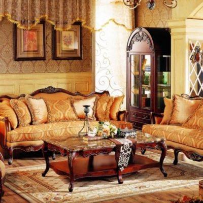 Массивная мебель в гостиной
