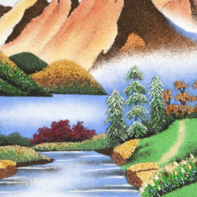 Гора с лесом