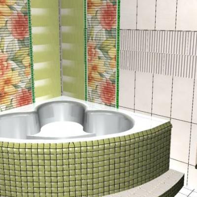 плитка мозаика для ванны