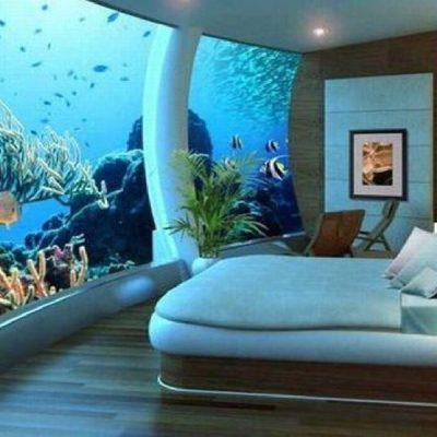 Аквариум комната в спальне