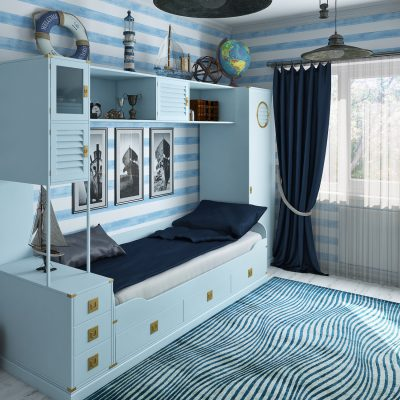 68Строгая спальня