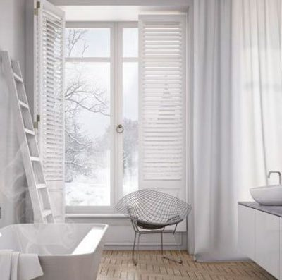 Современная ванная комната на фото с туалетом в скандинавском стиле