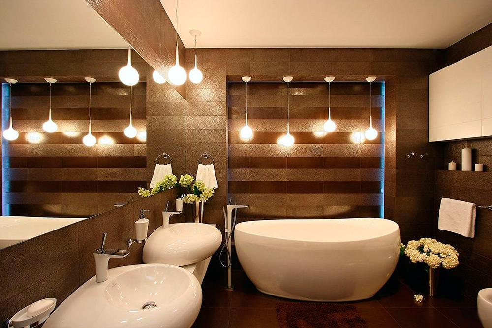 Комфортный и изысканный интерьер ванной в современном стиле