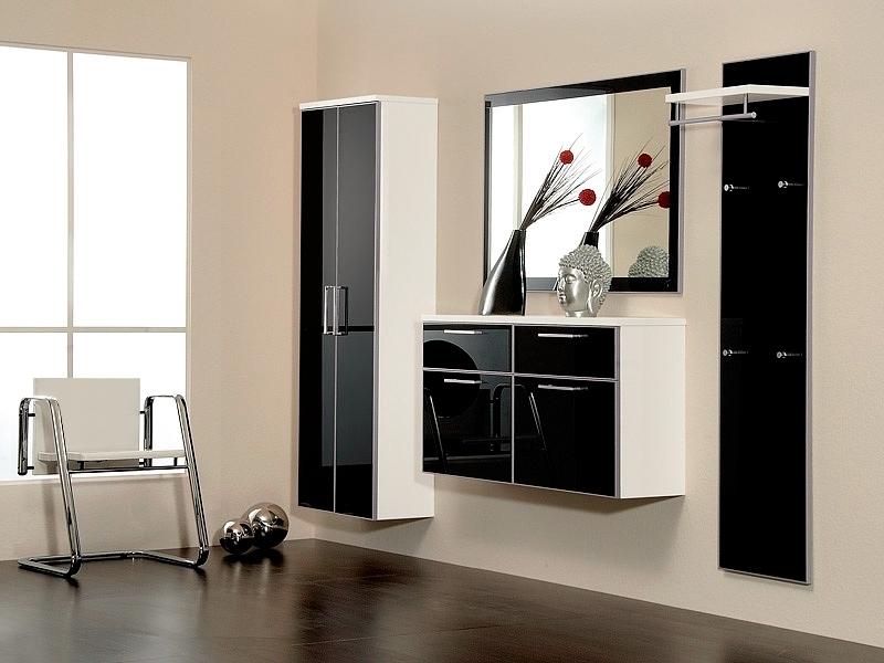 черно белая мебель в интерьере