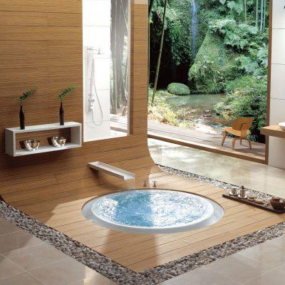 Ванна на полу