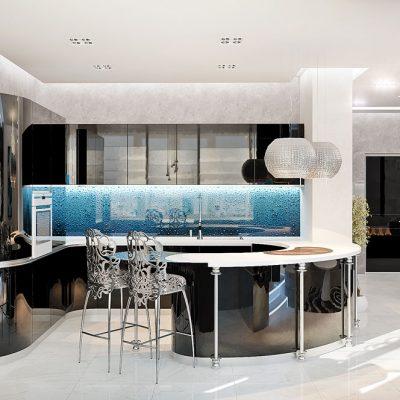 8Стулья в стиле модерн на кухне