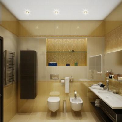 Ванная комната просторная фьюжн стиля на фото в интерьере