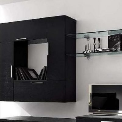 Черный акцент на мебели