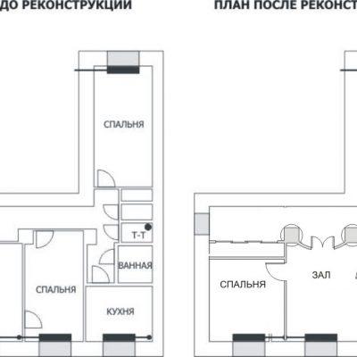 План сталинки на фото