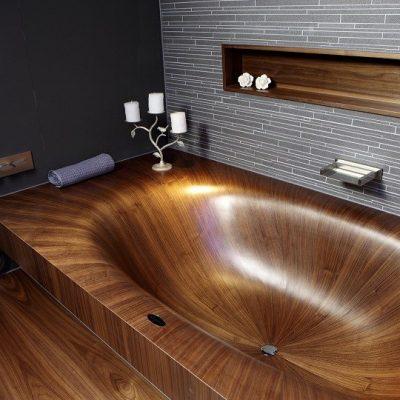 Ванная полностью из дерева