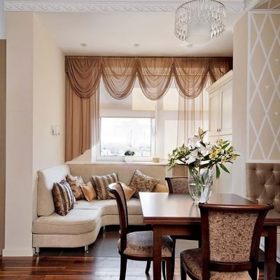 Пример штор в гостиной