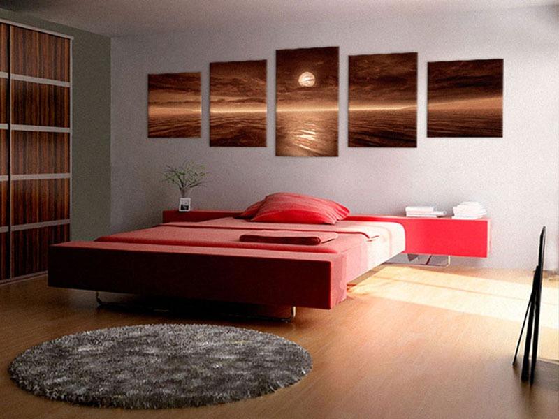 Картины для интерьера фото стильные для спальни с подсветкой