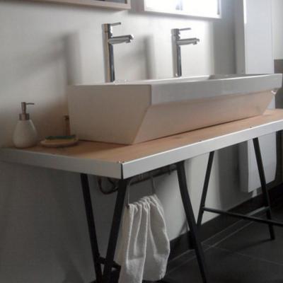 Оформление ванной под стиль фьюжн