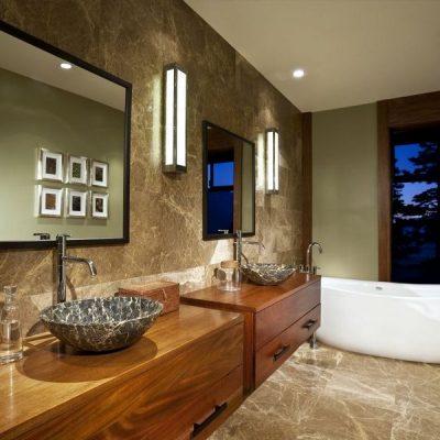 Оформление интерьера ванной