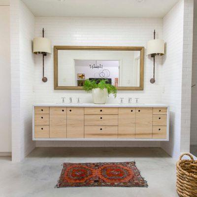 Модерн стиль ванной на фото в интерьере