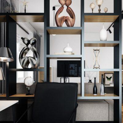 Пример интерьера кабинета стиля лофт