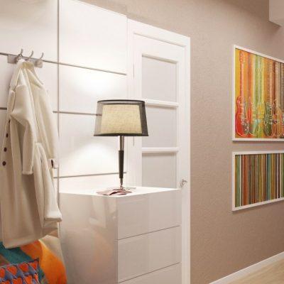 Прихожая комната современный стиль интерьера на фото примере