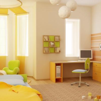 оранжевая десткая комната