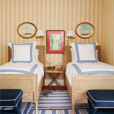 Две кровати в морском стиле