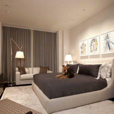Кровать в спальне на фото по фен шуй