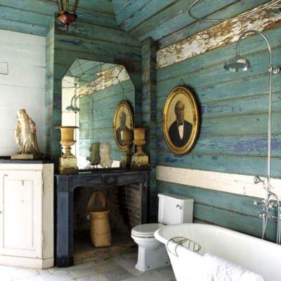 Деревенский стиль ванной