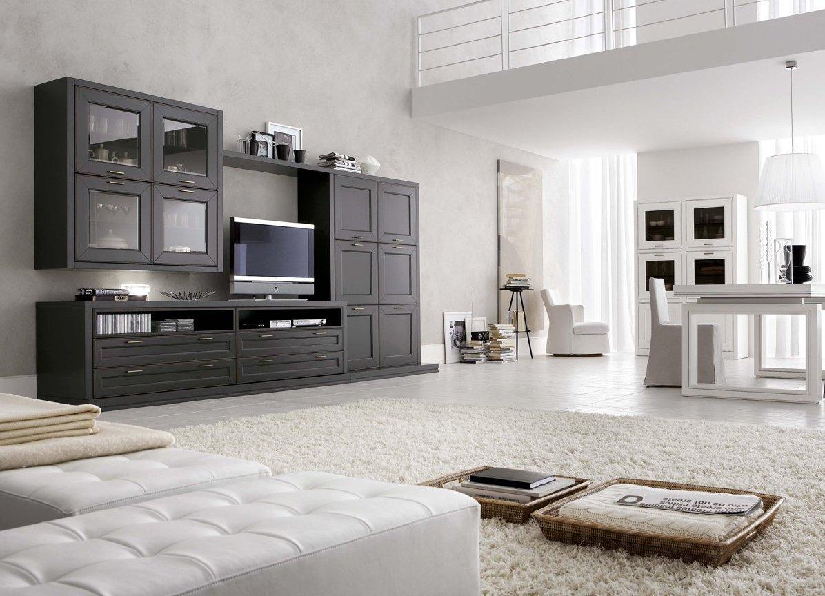 Черно-белый вариант гостиной