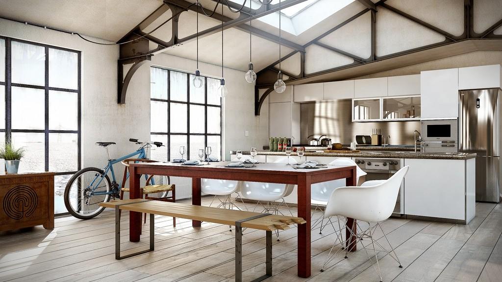 Столовая-гостиная-кухня