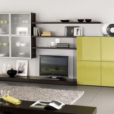 Сочетание двух цветов в мебели стенки