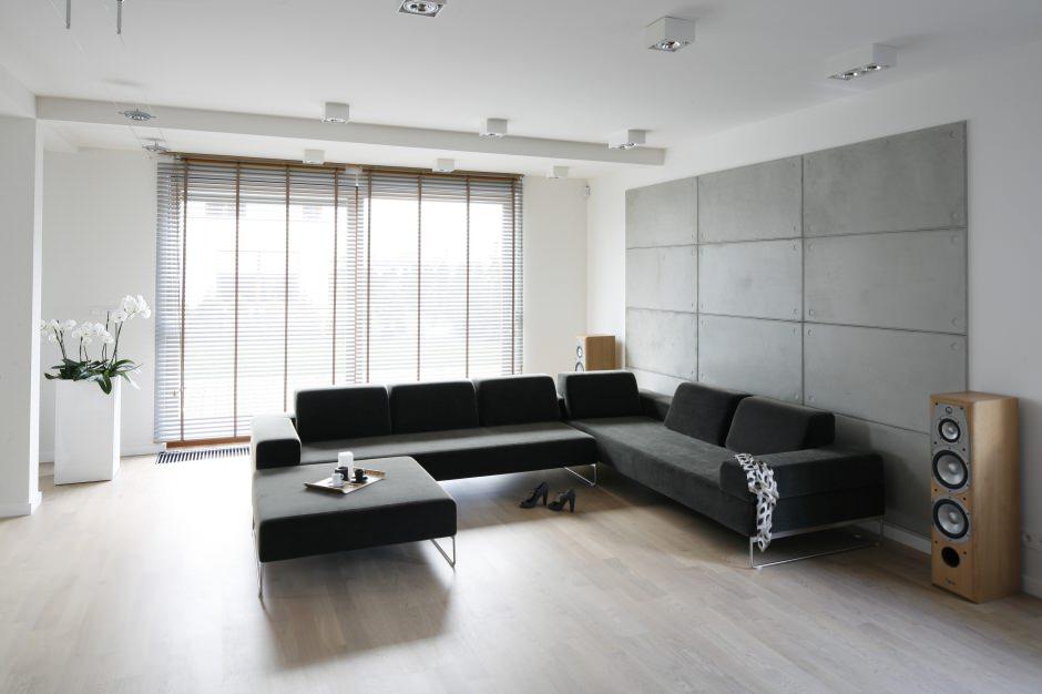 Угловой диван в интеьере гостиной