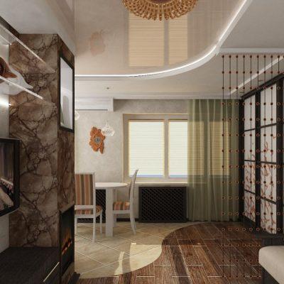 Интерьер комнаты гостиной