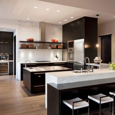 Черный стиль классики кухни