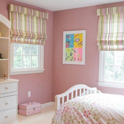 Розовая спальня девочки