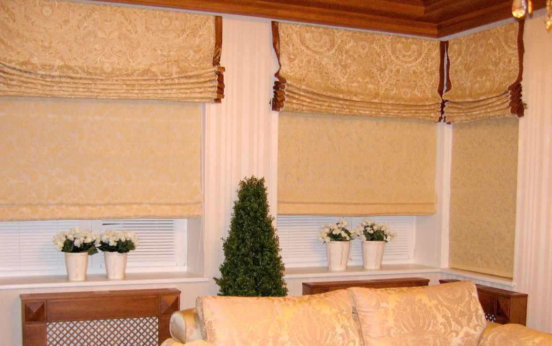 Римские шторы с пошаговым