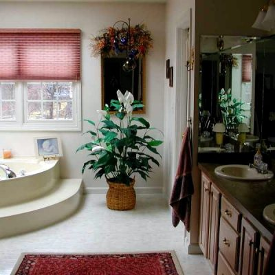 американский стиль в оформлении интерьера ванной комнаты