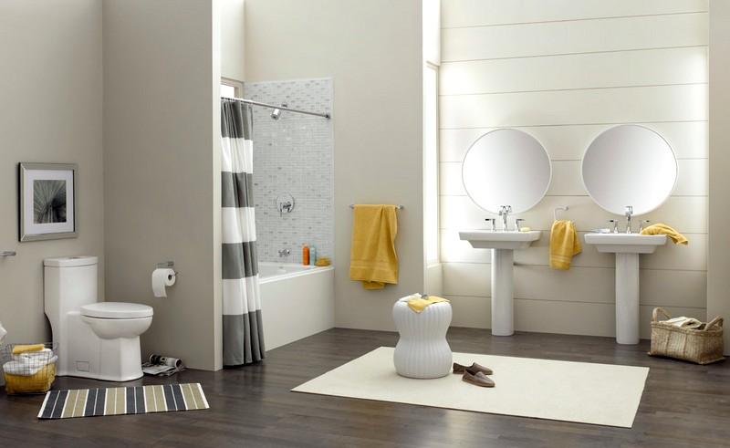 большая ванная комната в американском стиле