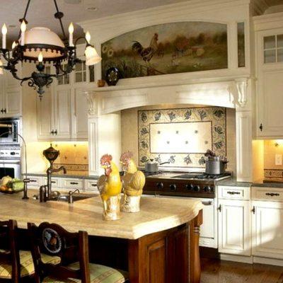 черты французского стиля в интерьере кухни