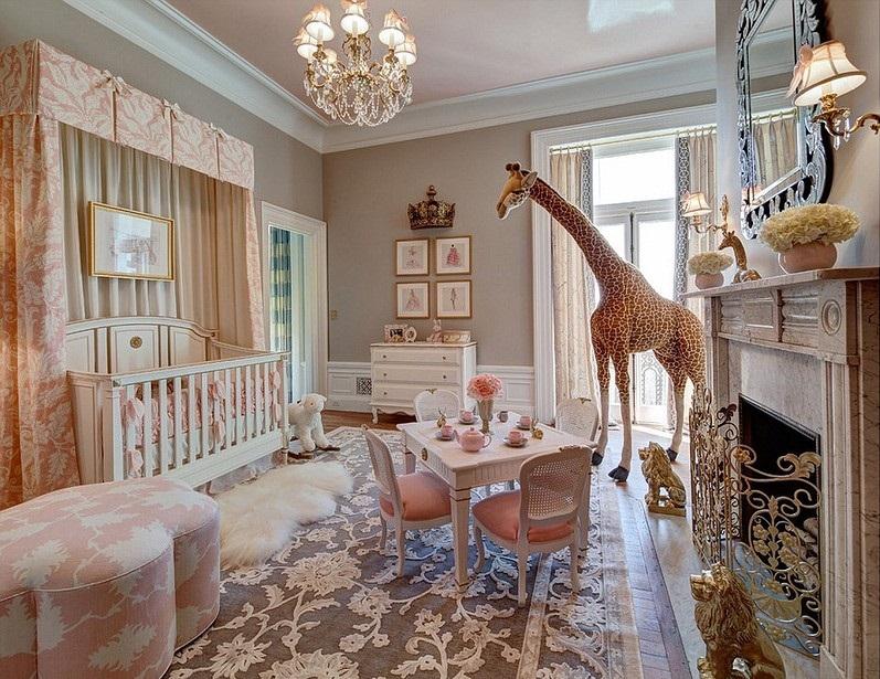 Для детской комнаты прованс выбирают обычно светлые пастельные оттенки