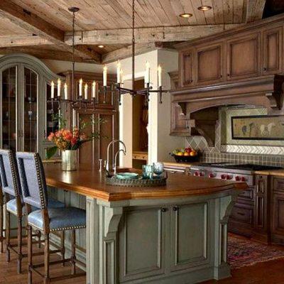 элегантный дизайн кухонного интерьера во французском стиле