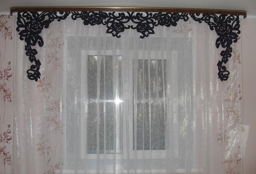 Оформление окна по форме ламбрекена
