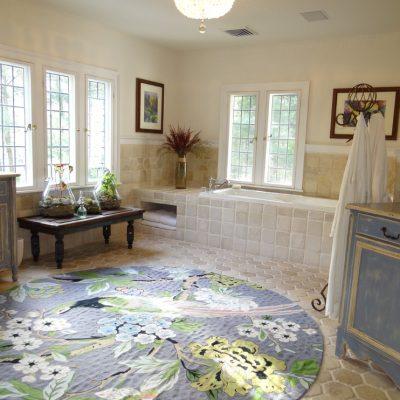 Гармоничные цвета в ванной в стиле прованс